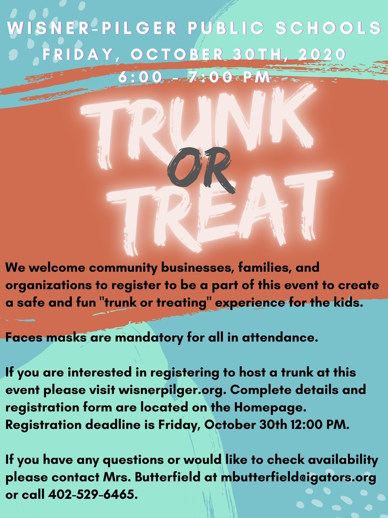 Trunk or Treat Information