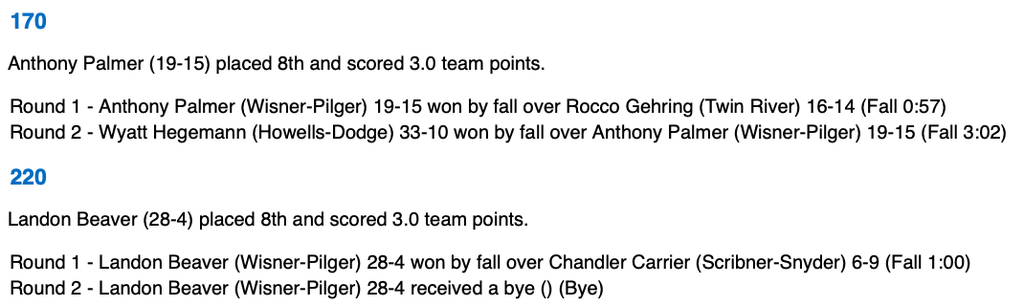 EHC Wrestling Update